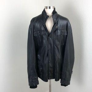 Lost black faux leather jacket